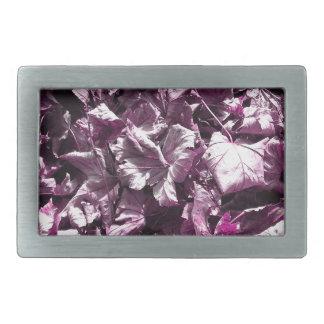 Purple leaves. belt buckle