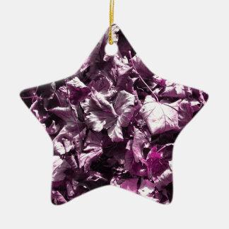 Purple leaves. christmas ornament