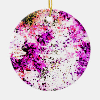 Purple Leaves Christmas Ornament