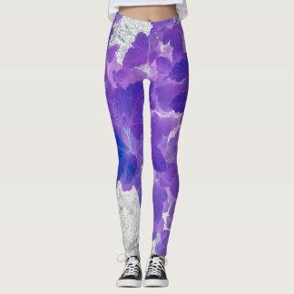 Purple leaves leggings