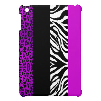 Purple Leopard and Zebra Custom Animal Print Case For The iPad Mini