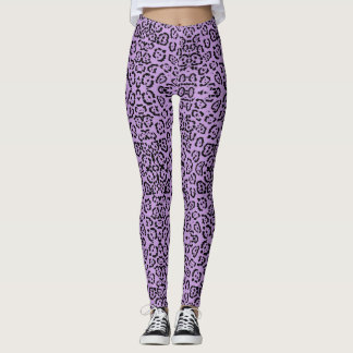 Purple Leopard Animal Print Leggings