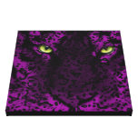 Purple Leopard Animal Print Wall Art Stretched Canvas Print