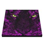 Purple Leopard Animal Print Wall Art Stretched Canvas Print