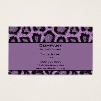 Purple Leopard Business Card