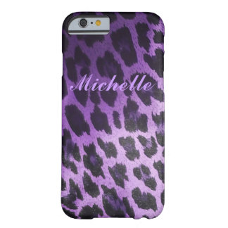 Purple Leopard Fur Barely There iPhone 6 Case