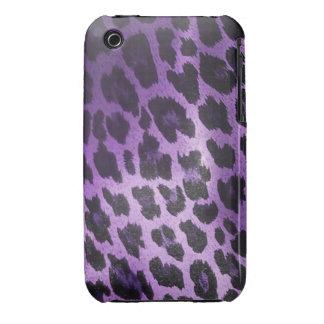 Purple Leopard Fur Print iPhone 3 Covers