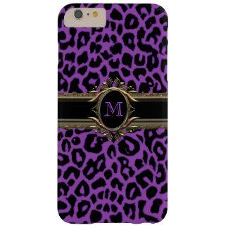Purple Leopard Monogram Animal Print iPhone 6 Case