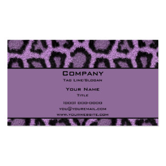 Purple Leopard Pack Of Standard Business Cards
