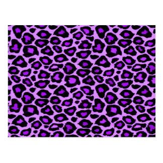 Purple Leopard Pattern Postcard