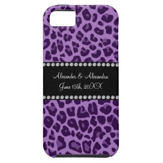 Purple leopard pattern wedding favors iPhone 5 covers