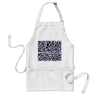 Purple leopard print adult apron