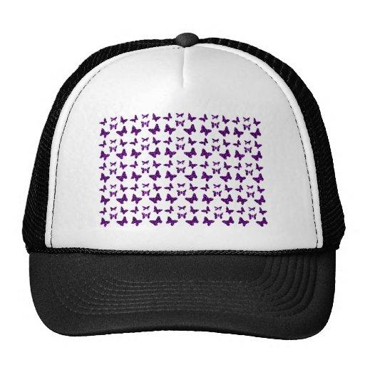Purple Leopard Print Butterfly Pattern Hat