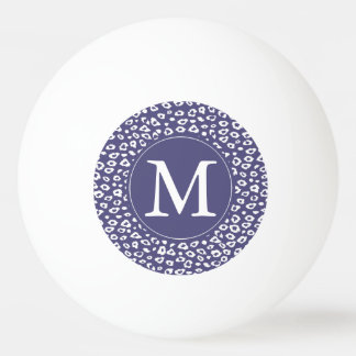 Purple Leopard Print Monogram Ping Pong Ball