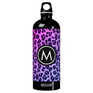 Purple Leopard Print Monogram SIGG Water Bottle