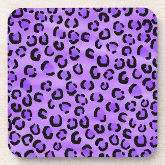 Purple Leopard Print Pattern. Coaster