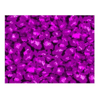 Purple Leopard Print Postcard