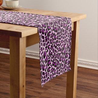 Purple Leopard Print Short Table Runner