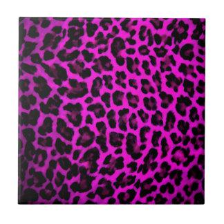 Purple Leopard Print Tile