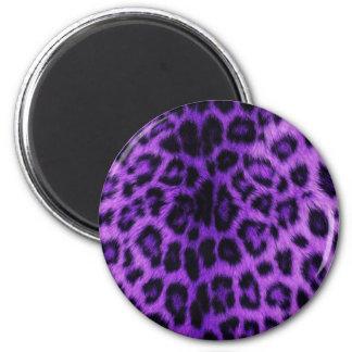 Purple Leopard Spots 6 Cm Round Magnet