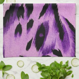 Purple Leopard Tea Towel
