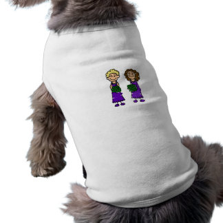 Purple Lesbian Brides Sleeveless Dog Shirt