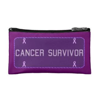 Purple License Plate Survivor Makeup Bag