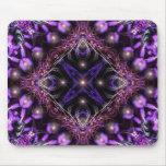 Purple Light Fractal Tapestry Mousepad