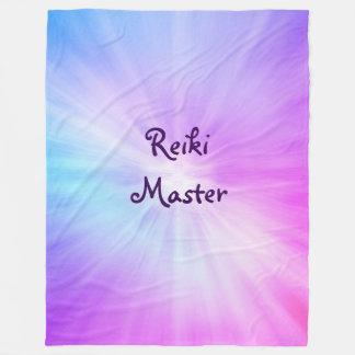Purple light Reiki Master design Fleece Blanket