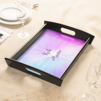 Purple light Reiki Master design Serving Tray