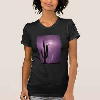 Purple lightning and cactus, AZ T-Shirt