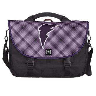 Purple Lightning Bolt Laptop Bags