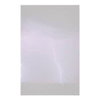 Purple Lightning in a Night Desert Thunder Storm Personalized Stationery