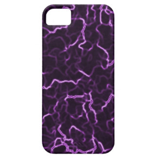 Purple Lightning iPhone 5/5S, Barely There Case