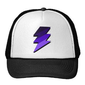 Purple Lightning Thunder Bolt Cap