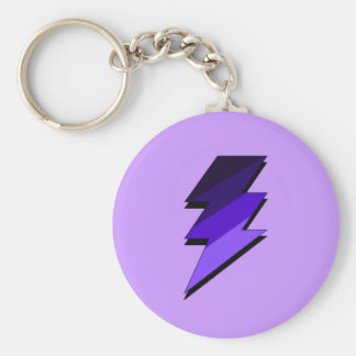 Purple Lightning Thunder Bolt Key Ring