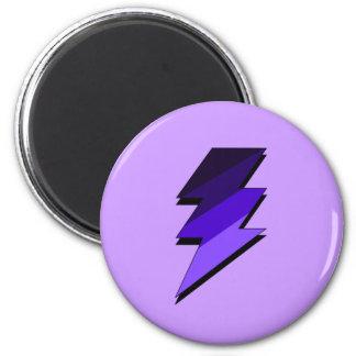 Purple Lightning Thunder Bolt Magnet
