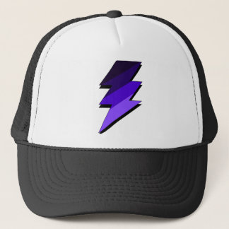 Purple Lightning Thunder Bolt Trucker Hat