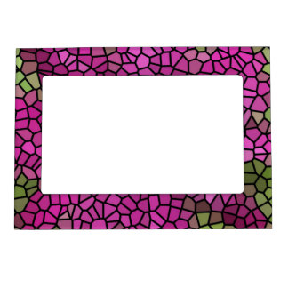 Purple, Lilac Abstract Mosaic Magnetic Frame