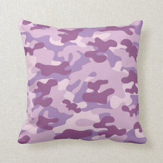 Purple Lilac Color Camouflage Pattern Cushion