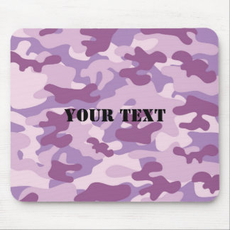 Purple Lilac Color Camouflage Pattern Personalized Mouse Mat