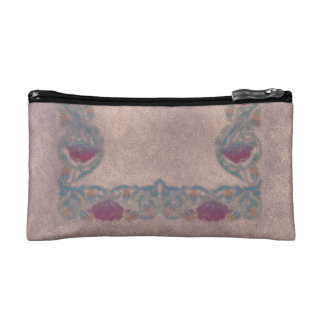 Purple Lilac flower Makeup Bag
