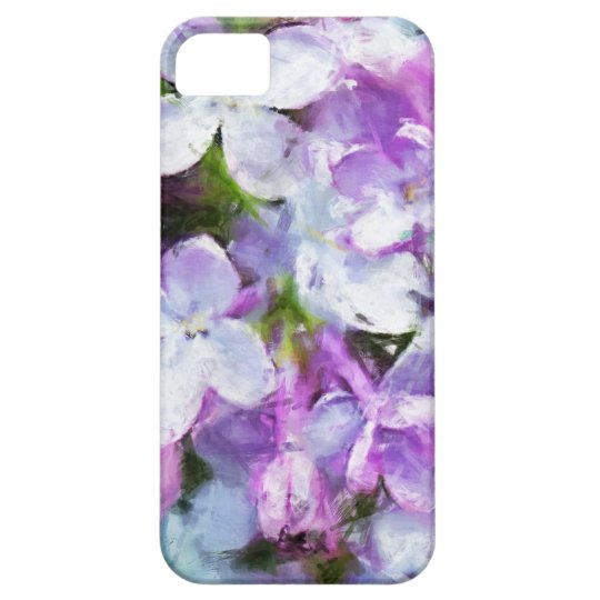 Purple Lilac Flower Painting iPhone5 Barely There iPhone 5 Case