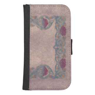 Purple Lilac flower Samsung S4 Wallet Case