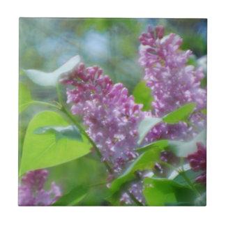 Purple Lilac Flowers Tile
