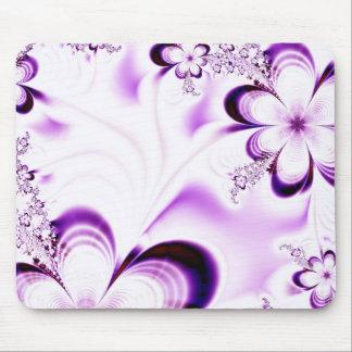 Purple & Lilac Garland Mouse Pad
