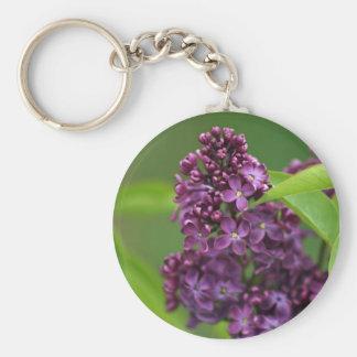 Purple Lilac Keychain
