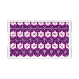 Purple lilac pink floral sakura pattern