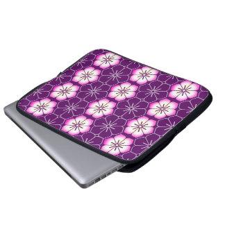 Purple lilac pink floral sakura pattern laptop sleeves