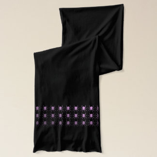 Purple lilac spiders scarf